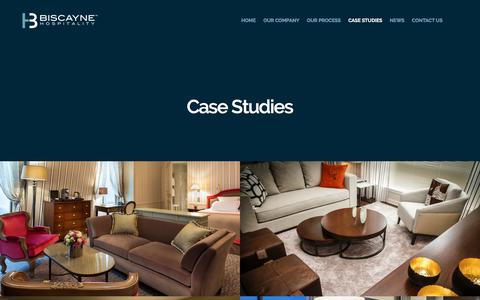 Screenshot of Case Studies Page biscaynehospitality.com - Case Studies – Biscayne Hospitality - captured June 1, 2017