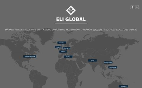 Screenshot of Contact Page eliglobal.com - Contact Us - Eli Global | Home - captured July 17, 2018