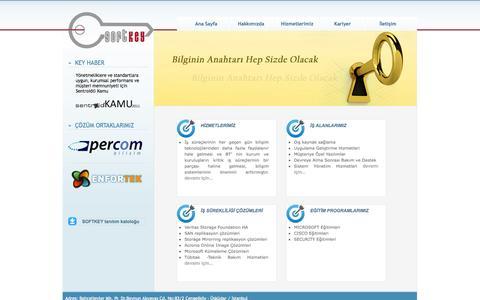 Screenshot of Home Page softkey.com.tr - SoftKey Yazılım - captured Oct. 3, 2014