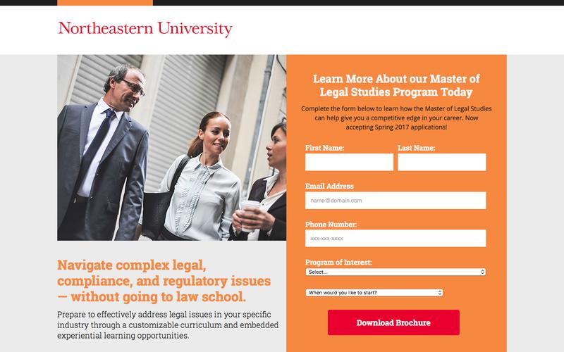 Screenshot Northeastern University