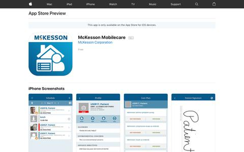 McKesson Mobilecare on the AppStore