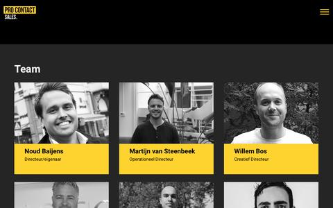Screenshot of Team Page pro-contact.nl - Team - Pro Contact - captured Sept. 29, 2018