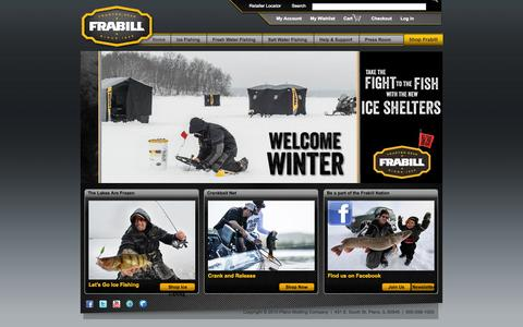 Screenshot of Home Page frabill.com - Frabill Trusted Fishing Gear Since 1938  Frabill Store - captured Jan. 28, 2015