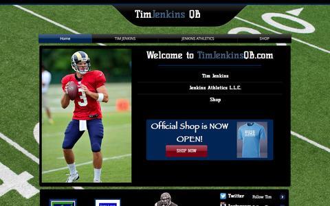 Screenshot of Home Page timjenkinsqb.com - Tim Jenkins Quarterback - captured Jan. 30, 2015