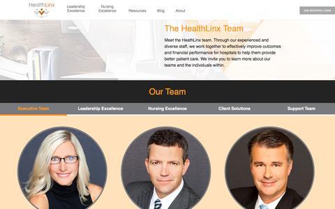 Screenshot of Team Page healthlinx.com - Our Team - HealthLinx - captured Nov. 5, 2016