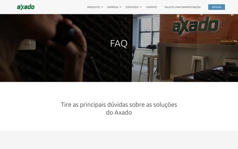Screenshot of FAQ Page axado.com.br - FAQ - AXADO TECNOLOGIA - captured July 3, 2016