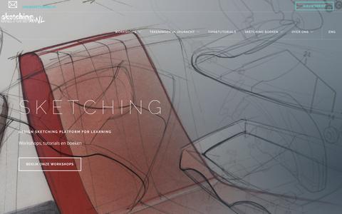 Screenshot of Home Page sketching.nl - design sketching cursus, tutorials en boeken - leren schetsen industrieel product ontwerpers - captured May 16, 2017