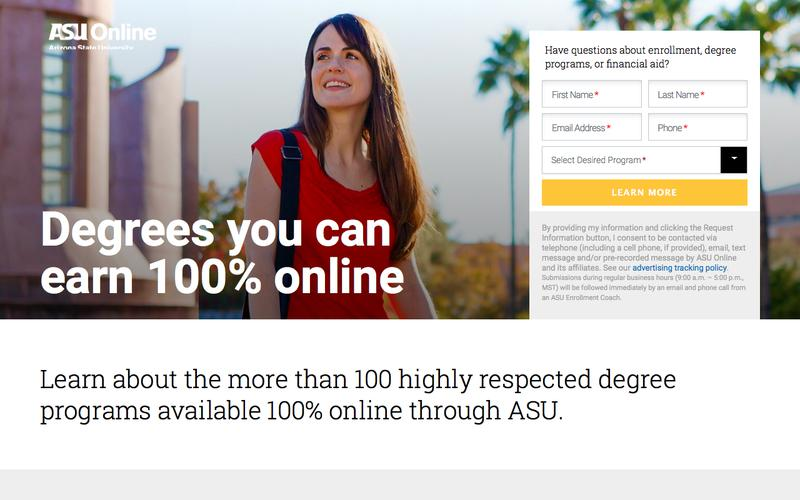 Degrees you can earn 100% online | ASU Online