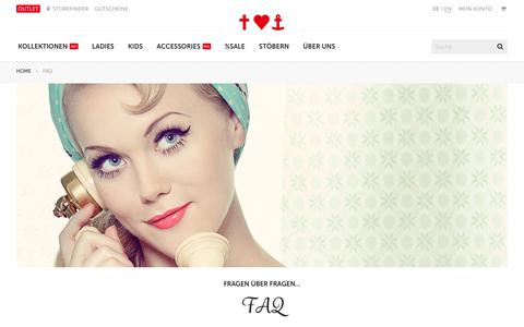 Screenshot of FAQ Page blutsgeschwister.de - FAQ - Blutsgeschwister Fashion Online Shop - captured Nov. 19, 2017