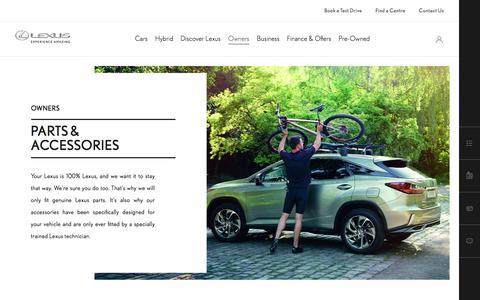 Genuine Lexus Parts and Accessories | Lexus UK