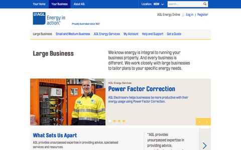 AGL - Electricity , Gas & Energy Provider for Large Businesses