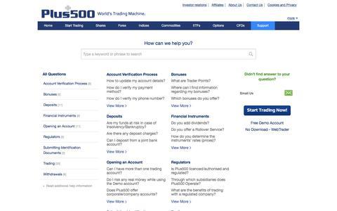 Plus500 | Support