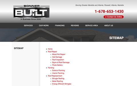 Screenshot of Site Map Page bonnerbuilt.com - Bonner Built Sitemap - captured Nov. 23, 2016