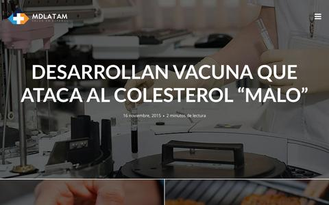 Screenshot of Home Page mdlatam.org - MDlatam | Salud en Espa�ol - captured Dec. 4, 2015