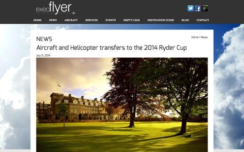 Screenshot of Press Page execflyer.com - Latest Aviation News   Execflyer - captured Oct. 3, 2014