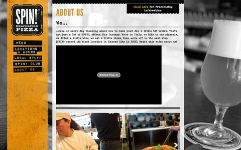Screenshot of About Page spinpizza.com - About Us   SPIN! Pizza - captured Nov. 2, 2014
