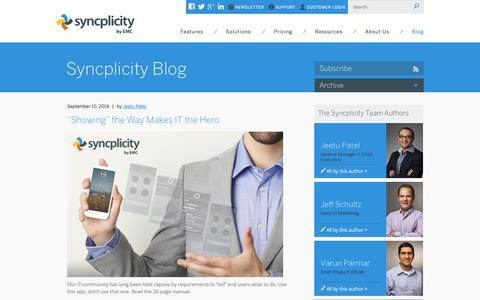 Syncplicity | Blog | Page 1