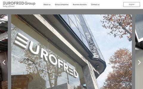 Screenshot of Home Page eurofredgroup.com - EurofredGroup - captured July 21, 2018