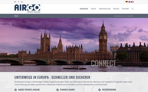 Screenshot of Home Page airgo.de - Start - AirGO Flugservice GmbH - captured Oct. 4, 2014