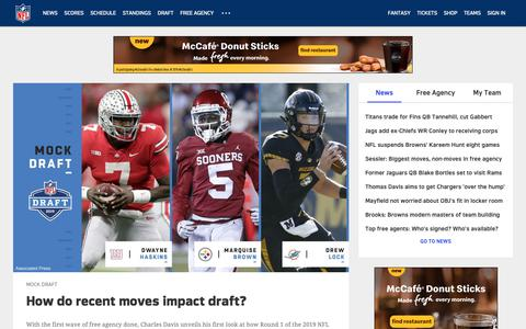 Screenshot of Home Page nfl.com - NFL.com - Official Site of the National Football League | NFL.com - captured March 16, 2019