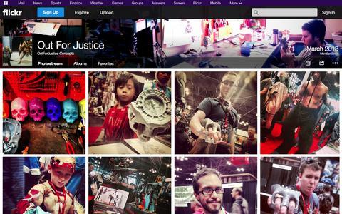 Screenshot of Flickr Page flickr.com - Flickr: OutForJustice-Concepts' Photostream - captured Oct. 26, 2014