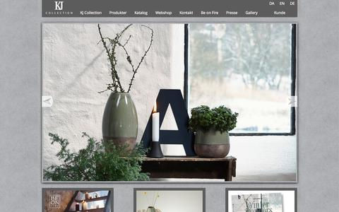 Screenshot of Home Page kj-collection.dk - KJ Collection - captured Sept. 13, 2015