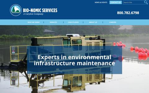 Screenshot of Home Page bio-nomic.com - Home - Bio-Nomic - captured Oct. 4, 2018