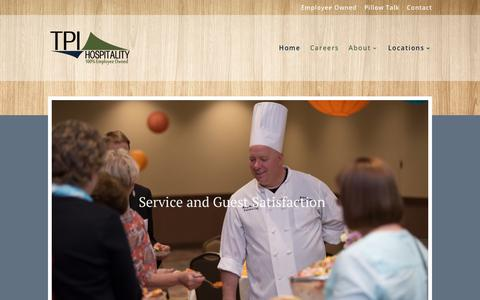 Screenshot of Jobs Page tpihospitality.com - Find Jobs in the Minneapolis area at Employee Owned TPI Hospitality - captured Sept. 21, 2018