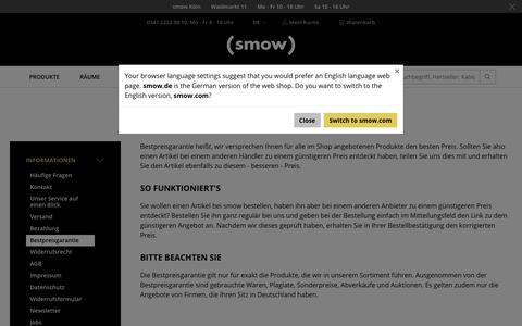 Bestpreisgarantie - Designermöbel von smow.de
