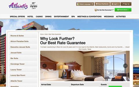 Screenshot of atlantiscasino.com - Atlantis Hotel Reno | Best Rate Guarantee | Book Direct & Save - captured March 20, 2016