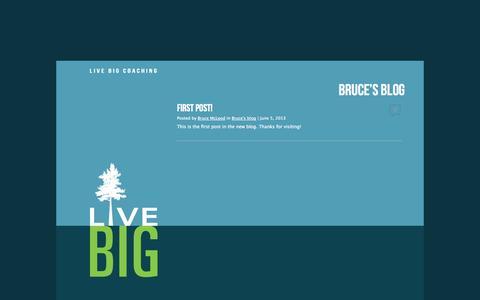 Screenshot of Blog livebigcoaching.ca - Live Big Coaching - captured Sept. 30, 2014