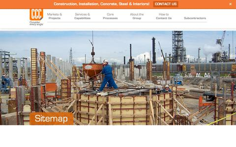 Screenshot of Site Map Page cccnetwork.com - Sitemap | Commercial Contracting Corp. - captured Sept. 29, 2018