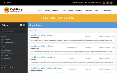 Screenshot of Jobs Page coyle-group.com - HSE Jobs - Coyle Group - captured Nov. 13, 2016