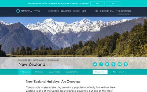 Luxury Holidays New Zealand | Beaches, Volcanoes & Glaciers
