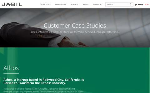 Screenshot of Case Studies Page jabil.com - Case Studies   Jabil - captured May 26, 2017