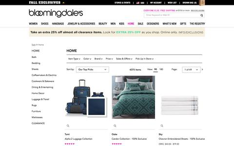 Home Sale: Furniture, Bedding & Cookware - Bloomingdale's