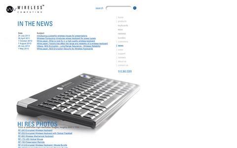 Screenshot of Press Page wireless-computing.com - Long Range Wireless Keyboards - Wireless Keyboards - Wireless Computing, Inc. - captured Oct. 9, 2014