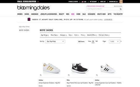 Boys' Designer Shoes, Sneakers, Boots and Sandals - Bloomingdale's