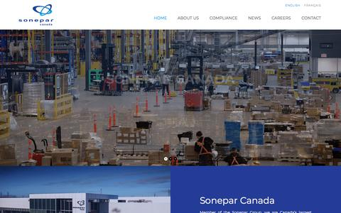 Screenshot of Home Page soneparcanada.com - Sonepar Canada – The Best Start Here! - captured Sept. 21, 2018