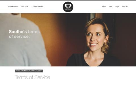 Terms of Service | Soothe