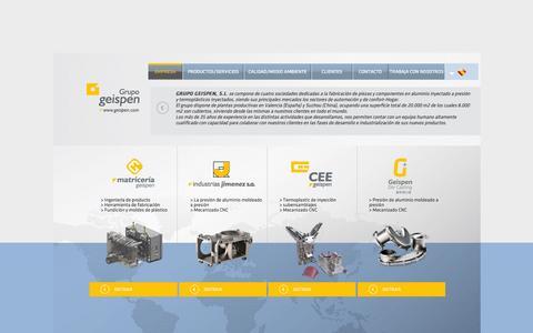 Screenshot of Home Page irjimenez.es - GRUPO GEISPEN - captured Oct. 2, 2014