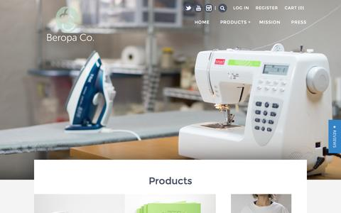 Screenshot of Products Page beropa.co - Products – BEROPA - captured Feb. 7, 2016