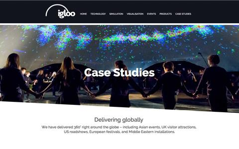 Screenshot of Case Studies Page igloovision.com - Casestudies - captured Dec. 4, 2015