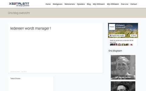 Screenshot of Blog xs2talent.nl - Blog - captured July 23, 2016