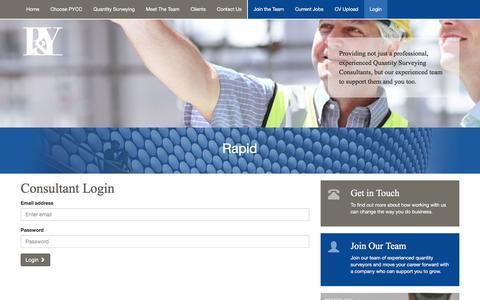 Screenshot of Login Page pycc.co.uk - Login Area | P & Y Commercial Consultants Ltd | West Midlands - captured Jan. 24, 2016