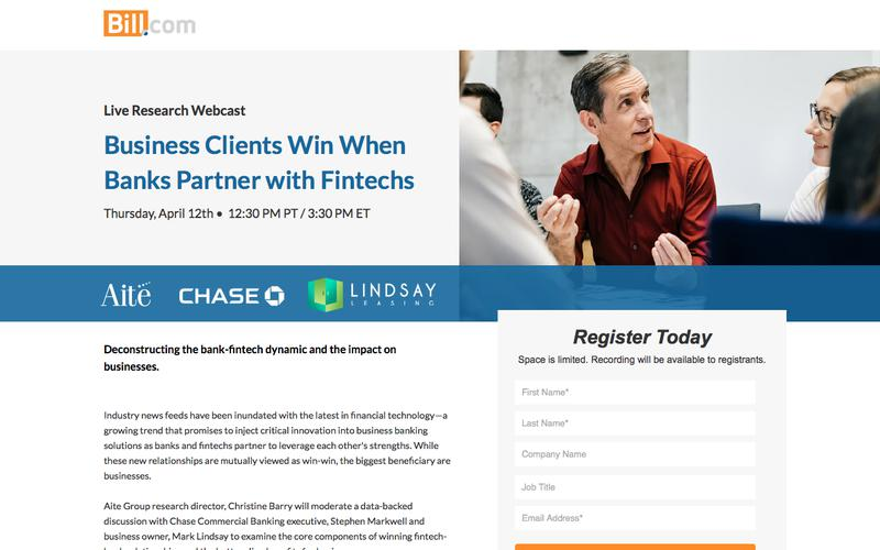Business Clients Win When Banks Partner with Fintechs