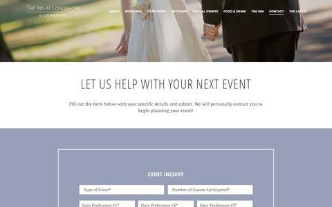 Screenshot of Contact Page innatlongshore.com - Contact - captured Feb. 28, 2016