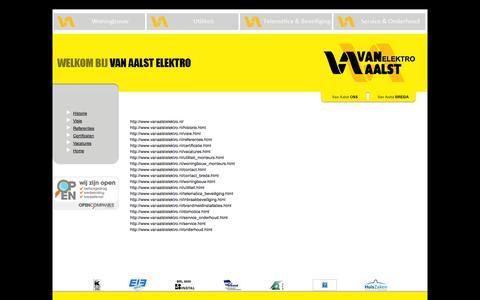 Screenshot of Site Map Page vanaalstelektro.nl - VAN AALST ELEKTRO   OSS   BREDA - captured Oct. 9, 2014
