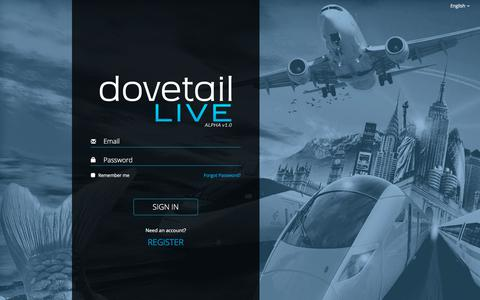 Screenshot of Signup Page dovetailgames.com - Log in to Dovetail Live - captured Oct. 30, 2017
