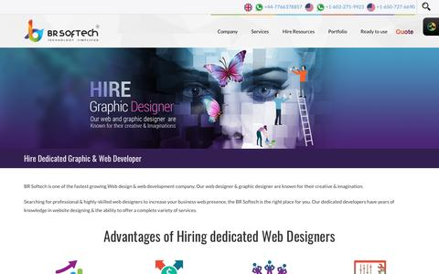 Hire Dedicated Graphic & Web Designer India- BR Softech